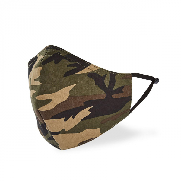 Tilley Cotton Face Coverings 2-Pack Camo / Black
