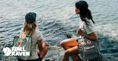 Girls With Fjallraven Kanken Sky Blue Classic Backpacks
