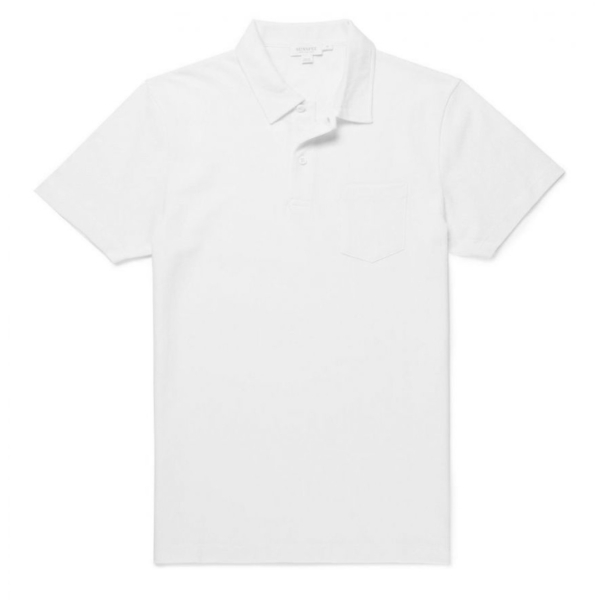 Sunspel Riviera S/S Polo Shirt White