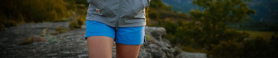 Women Wearing Light Blue Running Shorts