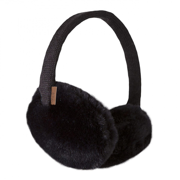 Barts Plush Earmuffs Black