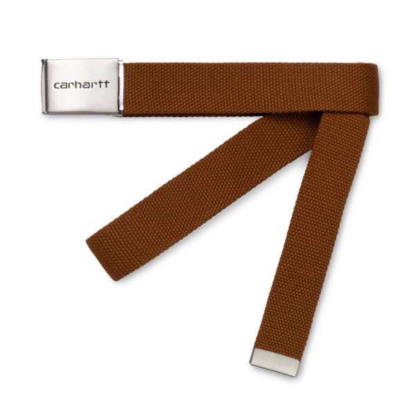 Carhartt Clip Belt Chrome Brandy