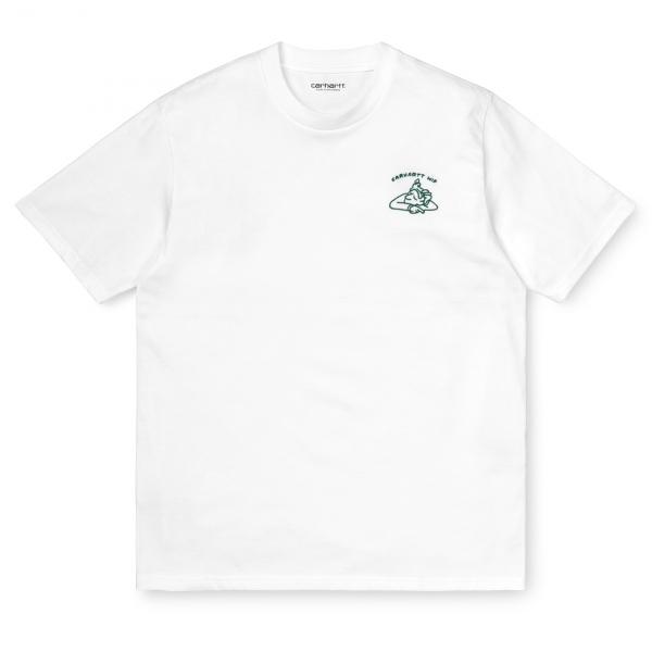 Carhartt Reverse Midas T-Shirt White / Bottle Green