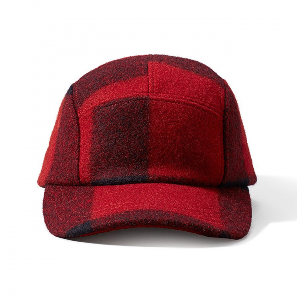 Filson 5 Panel Cap Red Black