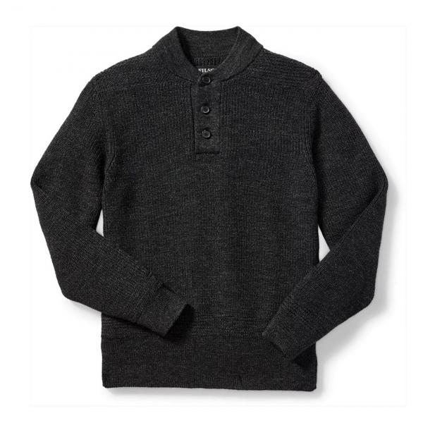 Filson 5GG Henley Sweater Charcoal