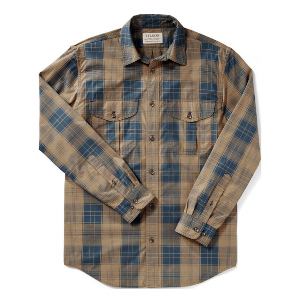 Filson Feather Cloth Shirt Bronze / Blue