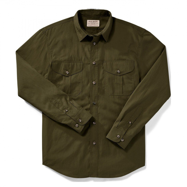 Filson Feather Cloth Shirt Marsh Olive