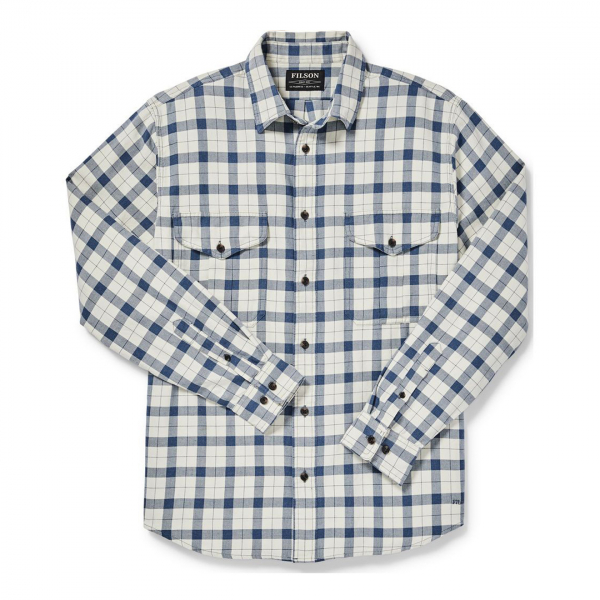 Filson Lightweight Alaskan Guide Shirt Natural / Blue / Heather