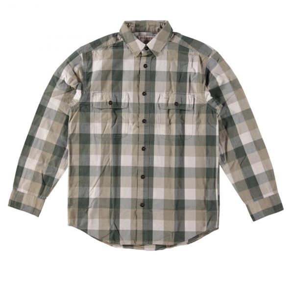 Filson Lightweight Kitsap Work Shirt Olive/Khaki/Ivory