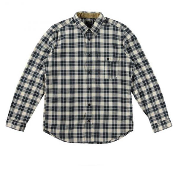 Filson Rustic Oxford Shirt Cream/Brown Plaid
