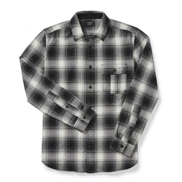 Filson Rustic Oxford Shirt Gray/Black/Ivory Plaid