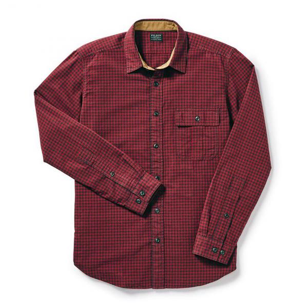 Filson Rustic Oxford Shirt Red Coal Plaid