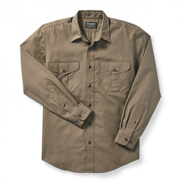 Filson Safari Cloth Shirt Olive Gray