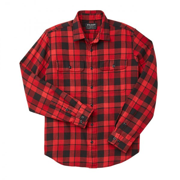 Filson Scout Shirt Black / Scarlet Plaid