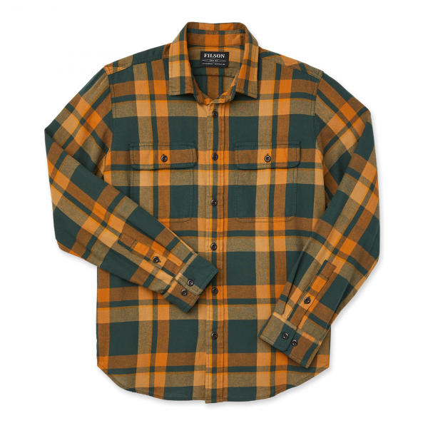 Filson Scout Shirt Green / Gold Plaid