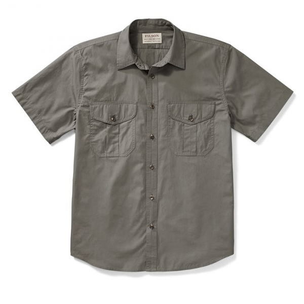 Filson Short Sleeve Feather Cloth Shirt Light Olive