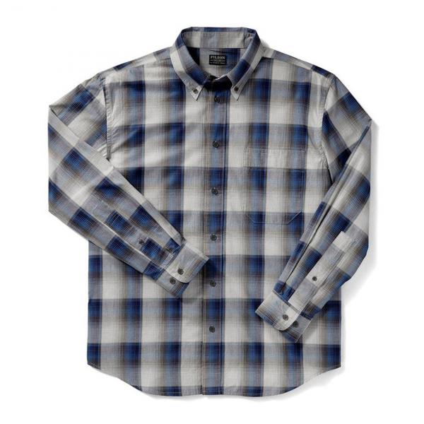 Filson Sutter Sport Shirt Blue Heather Gray
