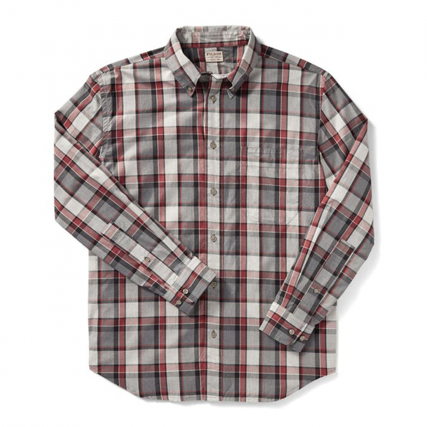 Filson Sutter Sport Shirt Brick Heather Gray