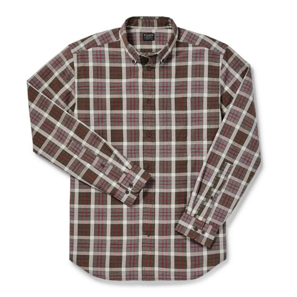 Filson Sutter Sport Shirt Brown/Burgundy/Cream
