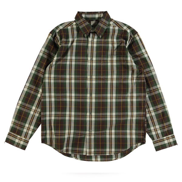Filson Sutter Sport Shirt Brown/Forest/Gold Plaid