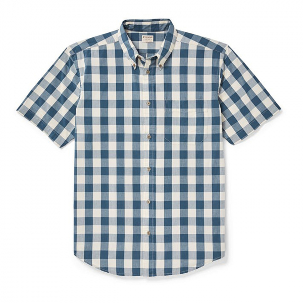 Filson Sutter Sport Short Sleeve Shirt Sand/Teal Plaid