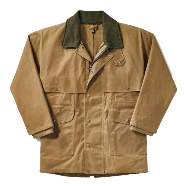 Filson Tin Cloth Packer Coat Extra Long Dark Tan