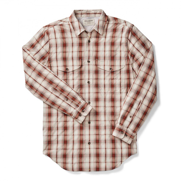 Filson Twin Lakes Sport Shirt Rust/Cream