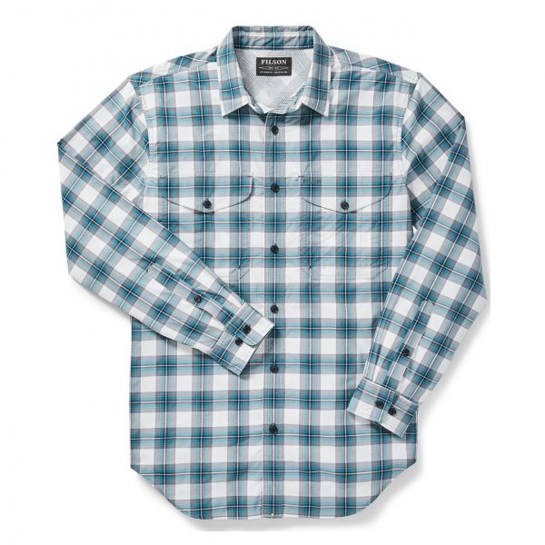Filson Twin Lakes Sport Shirt White/Blue/Gray