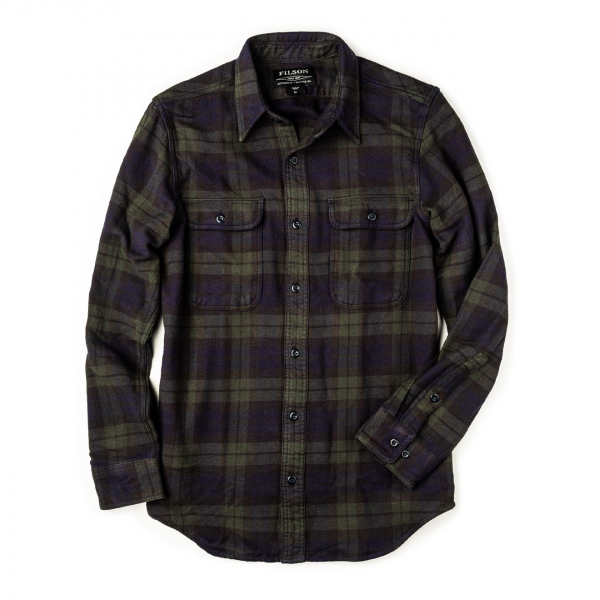 Filson Vintage Flannel Work Shirt Black / Green / Navy