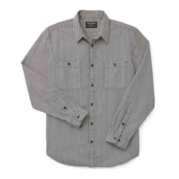 Filson Wildwood Shirt Black/Cream Minicheck