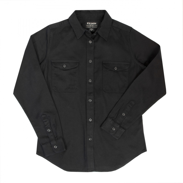 Filson Womens 6Oz Drill Chino Shirt Black