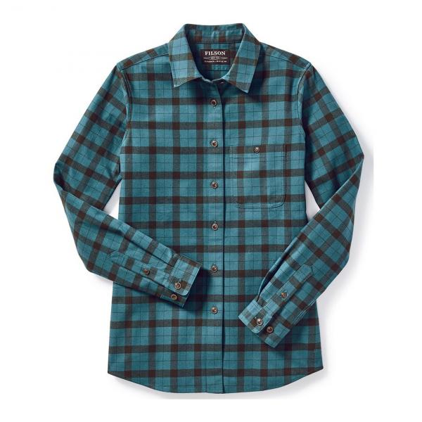 Filson Womens Alaskan Guide Shirt Emerald/Forest