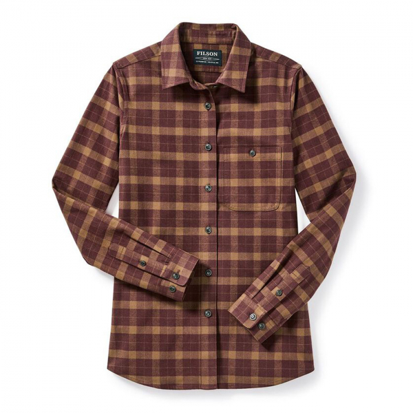 Filson Womens Alaskan Guide Shirt Rust/Brown