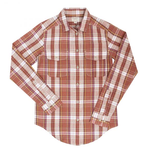 Filson Womens Conway Shirt Clay/Mauve/Cream Plaid