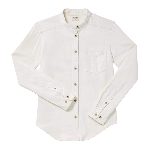 Filson Womens Denim Shirt White