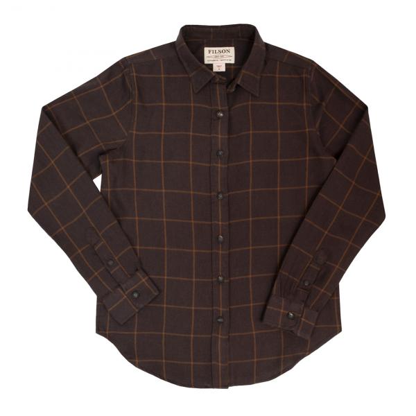 Filson Womens Farrow Shirt Brown Rust Windowpane