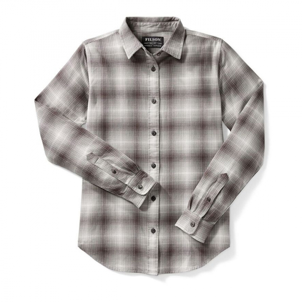 Filson Womens Farrow Shirt Light Grey Ombre