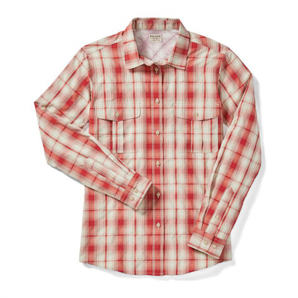 Filson Womens Lake Crescent Shirt Red/Sand