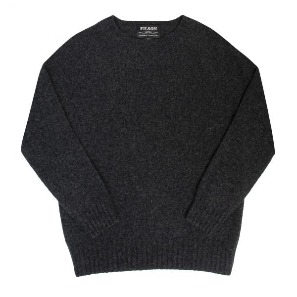 Filson Womens Light Weight Geelong Crew Neck Sweater Charcoal