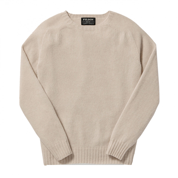 Filson Womens Light Weight Geelong Crew Neck Sweater Cream