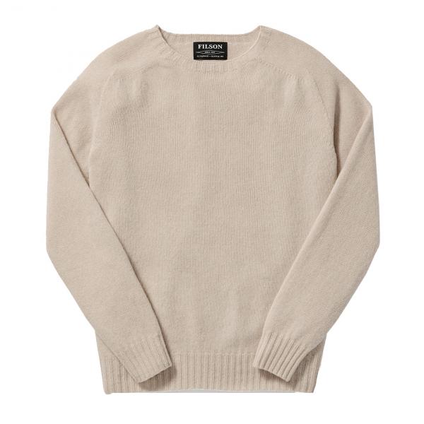 Filson Womens Light Weight Geelong Crew Neck Sweater Cream