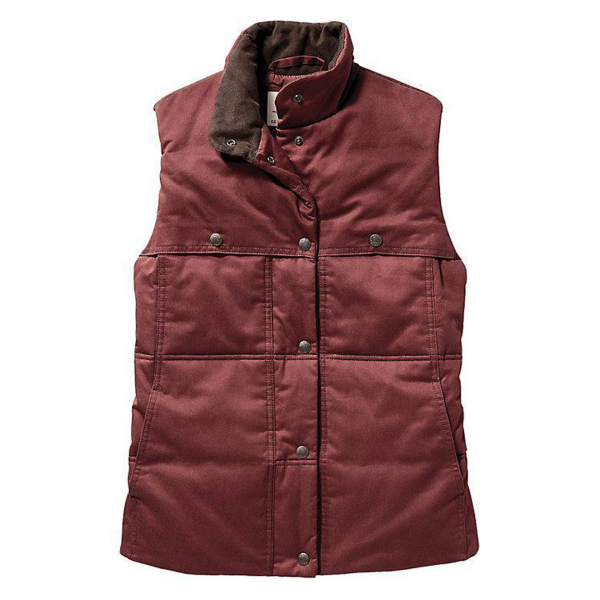 Filson Womens Quilted Westward Vest Burnt Red