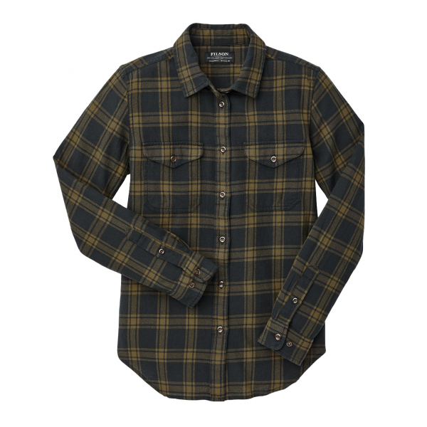 Filson Womens Scout Shirt Black / Dark Olive