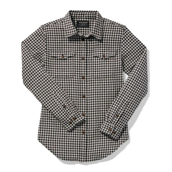 Filson Womens Scout Shirt Black White Check