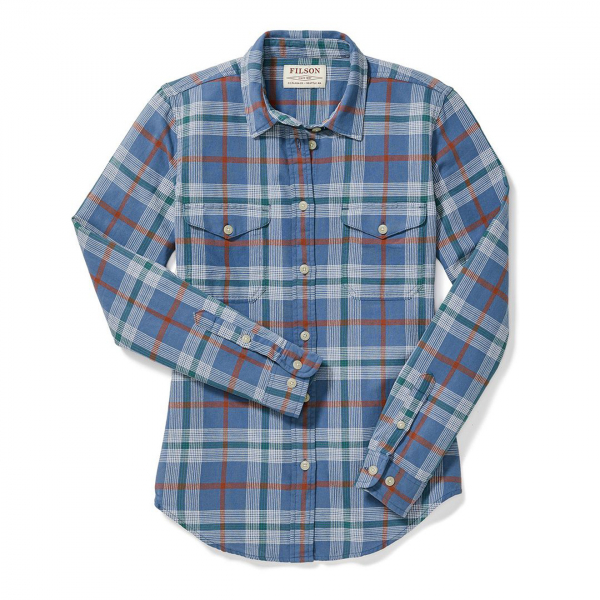 Filson Womens Scout Shirt Blue/Green/Scarlet