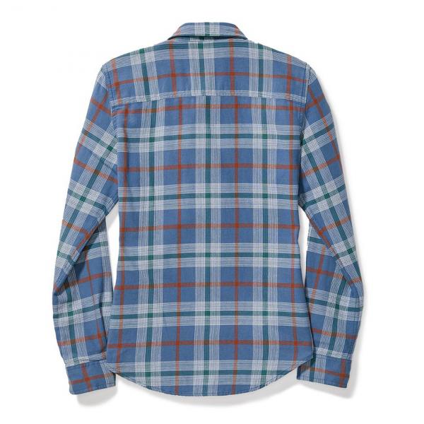 Filson Womens Scout Shirt Blue/Green/Scarlet