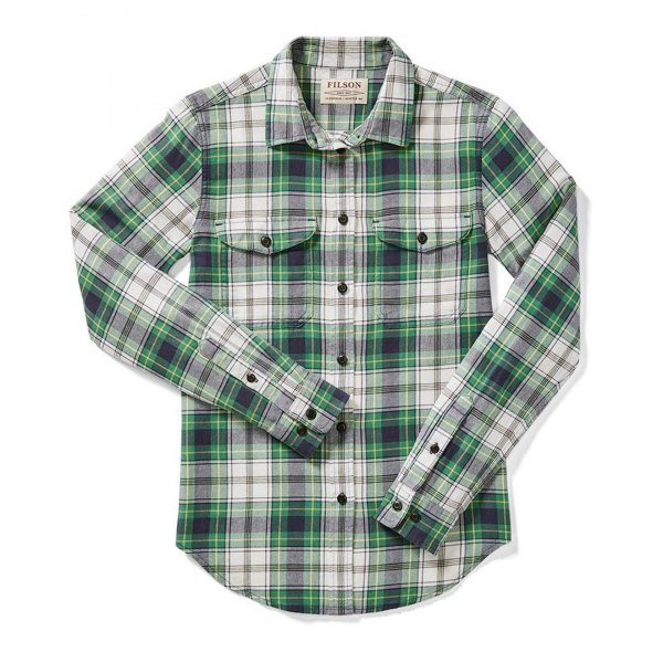 Filson Womens Scout Shirt Cream/Green/Navy