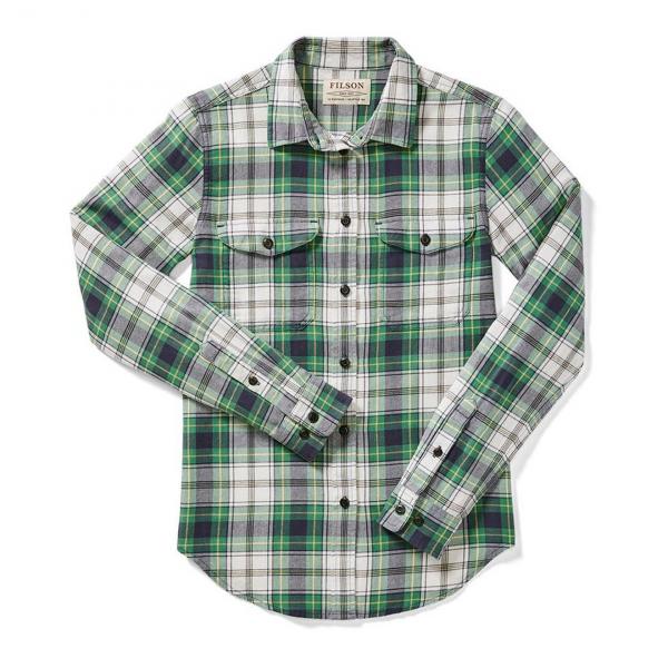 Filson Womens Scout Shirt Cream/Green/Navy