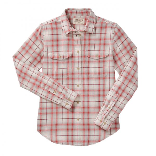 Filson Womens Scout Shirt Cream/Khaki/Red