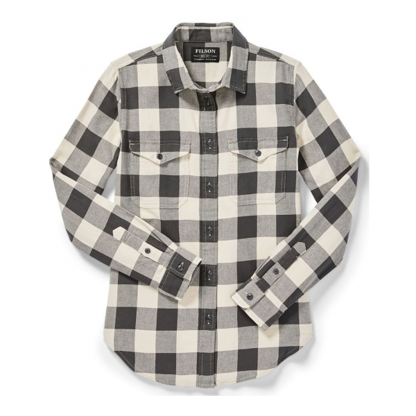 Filson Womens Scout Shirt Light Stone/Black Check